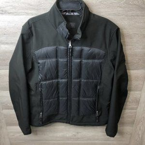 Guess Large Black Full Zip Puffer Middle Jacket